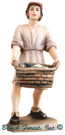 79710-107 Anri 3 Inch Kuolt Painted Shepherd with Fish