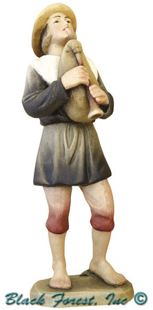 79710-106 Anri 3 Inch Kuolt Painted Shepherd with Bag Pipes