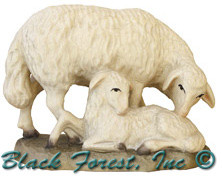 79710-13 Anri 3 Inch Kuolt Painted Sheep with Lamb