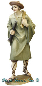 79710-18 Anri 3 Inch Kuolt Painted Shepherd with Horn