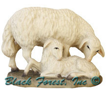 79740-13 ANRI 5 INCH KUOLT SHEEP WITH LAMB