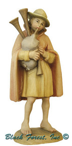 79740-19 ANRI 5 INCH KUOLT SHEPHERD WITH BAGPIPES