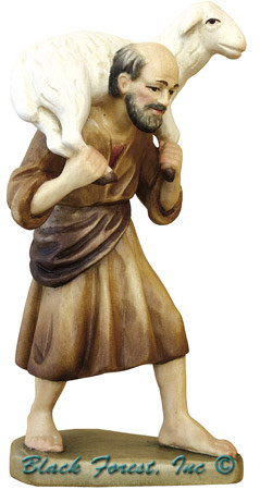 79740-105 ANRI 5 INCH KUOLT SHEPHERD WITH SHEEP