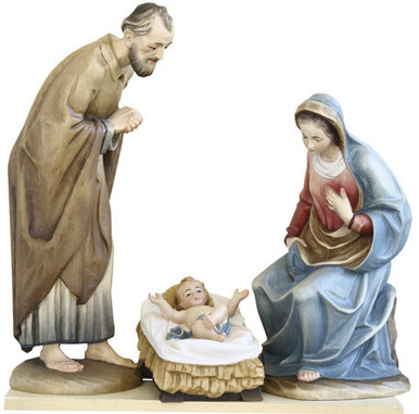 79740-1-3 ANRI 5 INCH KUOLT PAINTED HOLY FAMILY