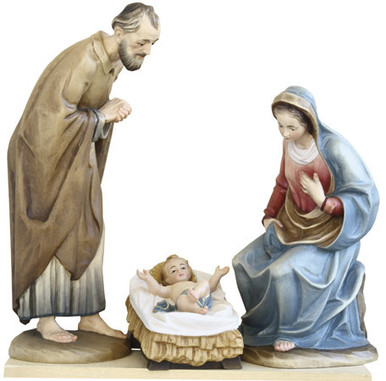 79700-1-3 Anri 6 Inch Kuolt Painted Holy Family