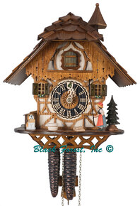 1294 Bell Ringer Chalet 1 Day Cuckoo Clock