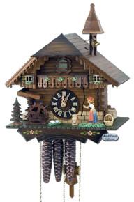 619M Musical Bell Ringer Chalet 1 Day Cuckoo Clock