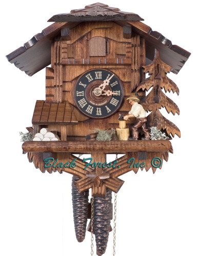 435-BFG Wood Chopper Chalet 1 Day Cuckoo Clock