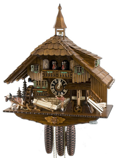 86230T Hones 8 Day Saw Mill Cuckoo Clock