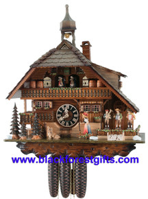8680T Hones Famous Husli 8 Day Cuckoo Clock