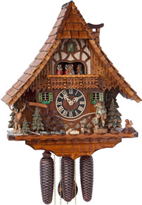 86209T Hones Hunter Style 8 Day Cuckoo Clock
