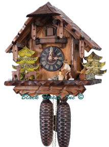 427-8 Wood Chopper Chalet 8 Day Cuckoo Clock
