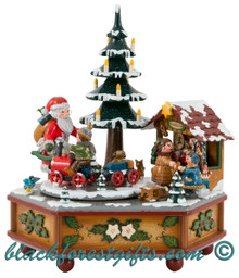 104h3003 Santa Christmas Music Box