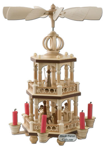 10444 Two Tier Christmas Story Pyramid