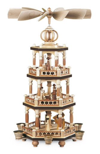 10560 Mueller Three Tier Christmas Story Pyramid
