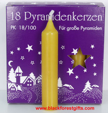 81544028 Natural Large Candles for Christmas Pyramid