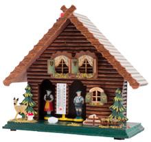 818 Wood German Weather House