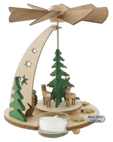 085-468 German Deer Tea Light Pyramid