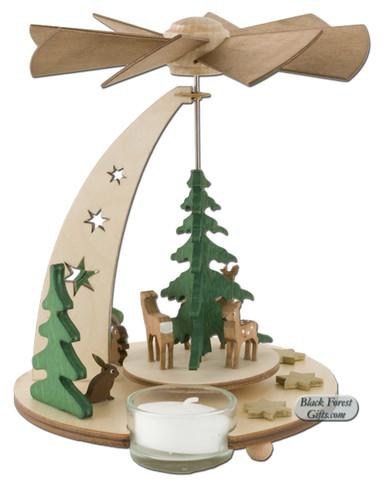 085-468 German Deer Tea Light Pyramid