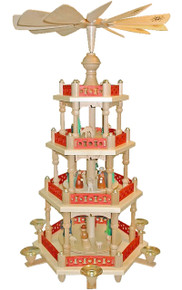277612 Christmas Story Four tier Nativity Pyramid