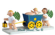 5322-2 WENDT AND KUHN ANGELS PUSHING CART WITH BABY