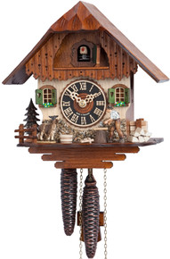 1750 Hones Wood Chopper 1 Day Cuckoo Clock