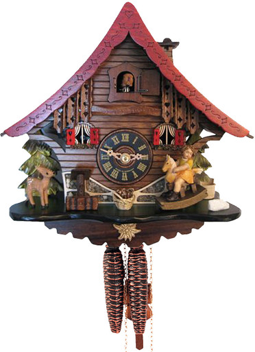 5174 Girl on Rocking Horse Cuckoo Clock
