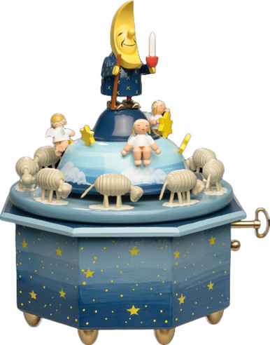 5336-43A Wendt and Kuhn Father Moon with Sheep Music Box