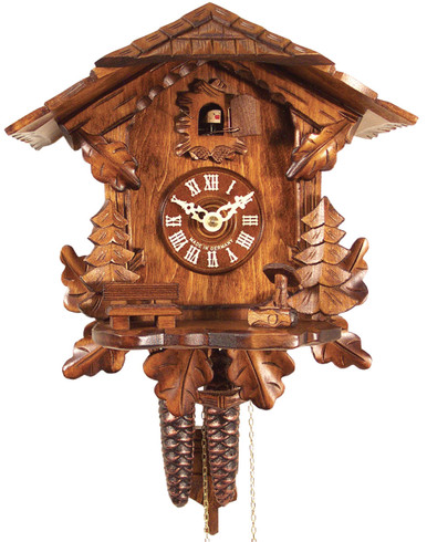 436HV Carved Chalet 1 Day Cuckoo Clock