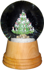 2404 Medium Christmas Tree Perzy Snow Globe from Vienna Austria