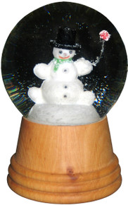 2406 Medium Snowman Perzy Snow Globe from Vienna Austria