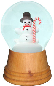 2476 Medium Snowman with Candy Cane Perzy Snow Globe from Vienna Austria