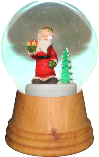 2552 Medium Santa with Tree Perzy Snow Globe from Vienna Austria