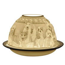 21584 Bernardaud Dogs Lithophane Votive
