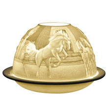 21436 Bernardaud Equestrian Dream Lithophane Votive