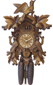 634 One Day Carved Black Forest Cuckoo Clock