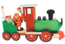 24004 Santa in Train Erzgebirge Incense Burner Smoker