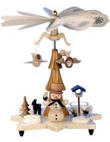 33-301 Snowman Ulbricht Tea Light German Pyramid