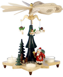 33-303 Santa with Angels Ulbricht Tea Light German Pyramid