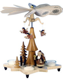 33-304 Santa with Angels Ulbricht Tea Light German Pyramid