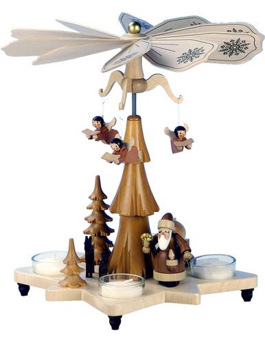 33-304 Santa with Angels Ulbricht Tea Light German Pyramid