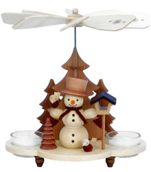 33-202 Snowman Natural Ulbricht Tea Light German Pyramid