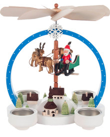 085-842 Flying Santa Scene Christmas Story Pyramid