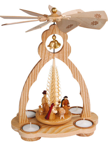 15820 Natural Nativity Scene Christmas Story Pyramid