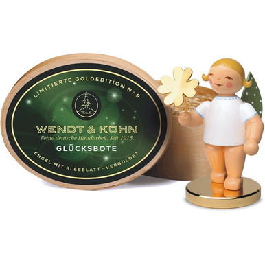 650-122LE Wendt and Kuhn 2016 Angel with Gold Plated 4 Leaf Clover