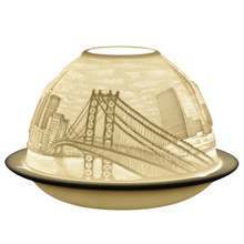 21434 Bernardaud Porcelain New York Lithophane Votive Candle