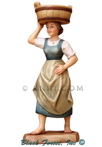 79700-111 Anri 6 Inch Kuolt Painted Shepherdess with Basin