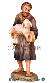 79700-112 Anri 6 Inch Kuolt Painted Shepherd with Sheep