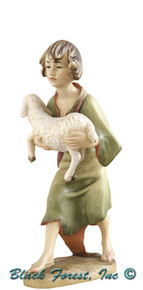 79750-25 Anri 8 Inch Bernardi Shepherd Boy with Lamb