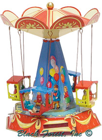 006MR Old Fashion Carousel Tin Toy made in Germany